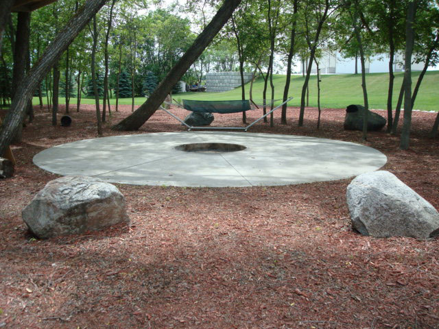 Specialty concrete masonry projects completed by voehl for Fire pit on concrete slab