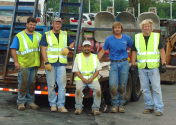 Voehl Construction Inc. employs skilled, dedicated craftsman with years of experience in cement work.